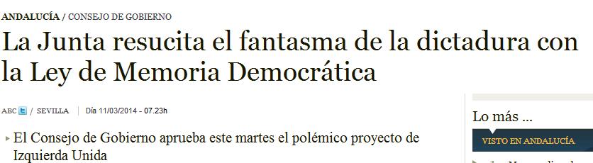 Memoria Democrática de Andalucía. Más cerca.