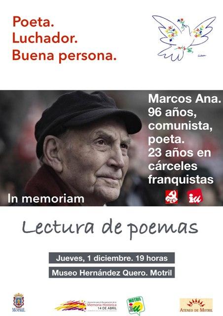 HOMENAJE A MARCOS ANA. POETA, LUCHADOR, COMUNISTA